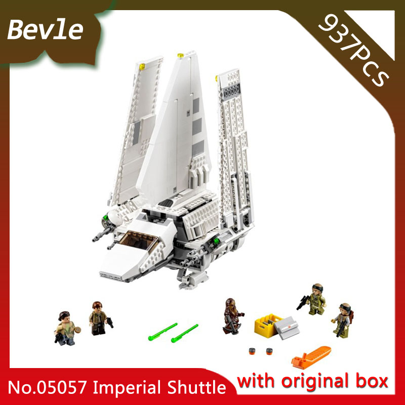 Bevle StoreLEPIN 05057 937Pcs with original box star space Series Imperial shuttle Model Building Blocks compatible 75094 Gift ювелирное изделие 75094