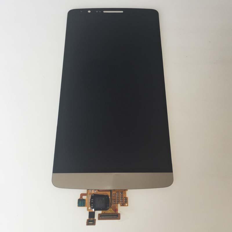ФОТО New Gold LCD Display Touch Screen Digitizer Assembly For LG G3 D850 D851 D852 D855 LS990 Replacement