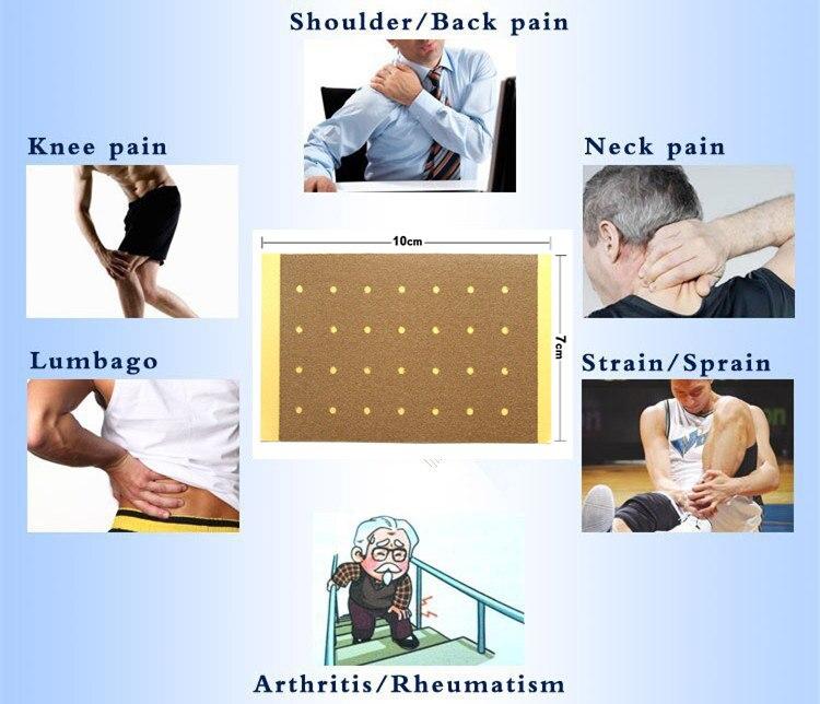 Купить с кэшбэком 120Pcs Back Neck Orthopedic Medical Plaster Muscle Aches Strain Sprain Shoulder Knee Pain Relief Patch Body Massager K00115