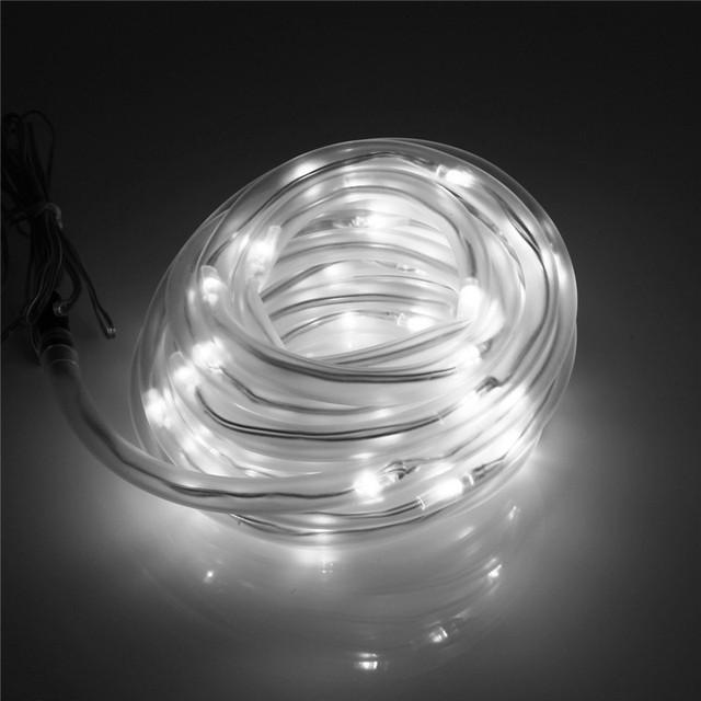 Impermeable 7 M 50 LED de Hadas de La Lámpara Tubo de la Cuerda de la Energía Solar Led Jardín Fiesta de Navidad de Luz Cadena de Luz Led Al Aire Libre decoración