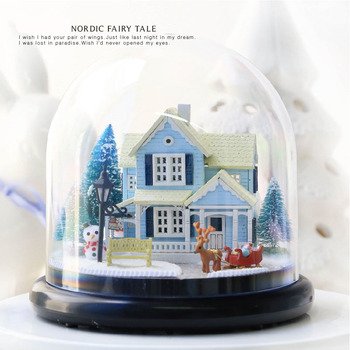 Diy Doll House Include Dust Cover Miniature 3D Puzzle Wooden Dollhouse Dolls For House Birthday Gifts Toys-Nordic Fairy Tale
