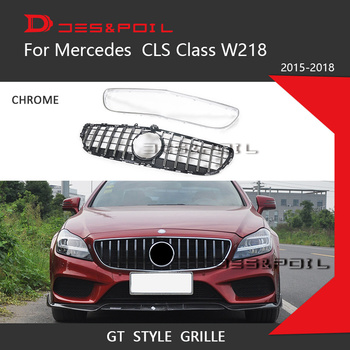 GT Grill Vertical Style For Mercedes Benz CLS Class W218 Facelift Sedan Auto Front Grille 2015-2018 CLS300 CLS350 CLS450 CLS500