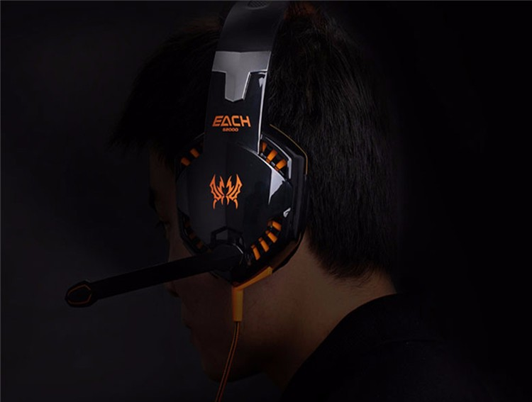 EACH G2000 Over-ear Gaming Headphone Headset Earphone With Mic Stereo Surrounded Bass LED Light For PC Game (25)