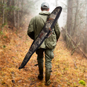Image 4 - Tactical 130cm Camo Gun Case Gun Bag Airsoft Rifle Shotgun Holster with Soft Padding Outdoor Military Hunting Gun Carrying Bag