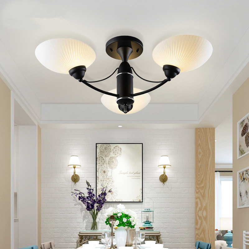 European style 3/5 heads ceiling lamps iron living room lights pastoral bedroom restaurant retro ceiling light ZA919107|retro ceiling light|lights style|retro ceiling - title=