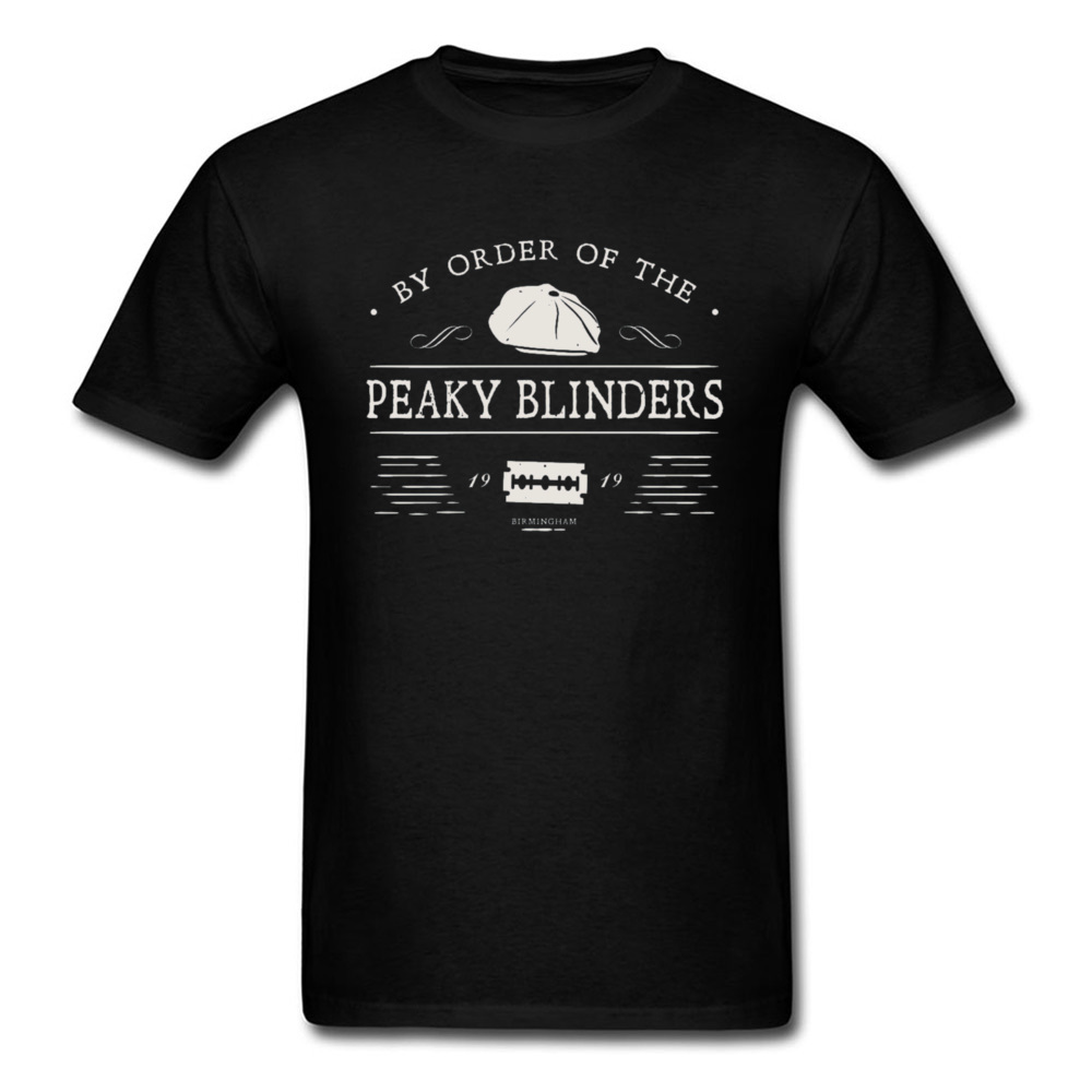 Fans Tshirt Men Peaky Blinders T Shirt Tops Tees Fitness Cotton Mens T-shirts 3D Printed 2019 New England Style Streetwear Black