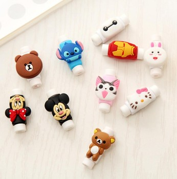 2000pcs/lot New 3D Cartoon Cable Protector Cord Protector Protective Sleeves Cover For iPhone iPad USB Charging Cable Winder