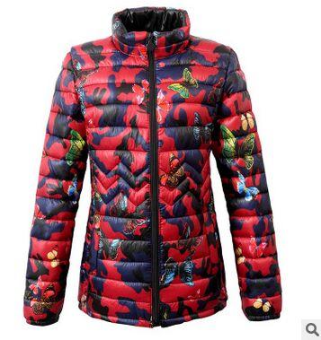 Parka   2019 Winter Jacket women Plus Size Womens   Parkas   Thicken Outerwear flower print Coats Short Female Slim Cotton basic tops