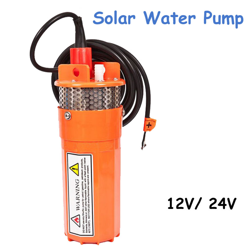 12V/24V solar submersible pump Deep well pump DC deep well pump High lift battery pump Well pump hand pump well pressure pump well oil pump hand pressure cast iron deep well thick and durable