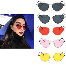 cat eye transparent female pink sunglasses