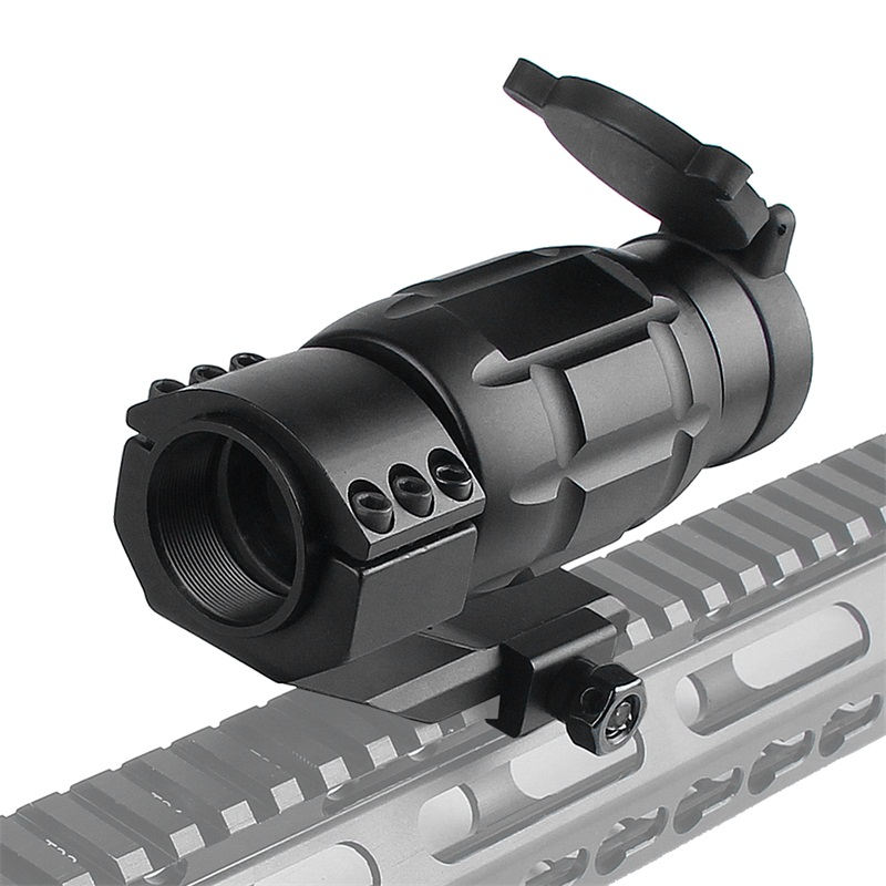 Tactical 3x25MM Magnifier Riflescope Optics Rifle Scope fit 20MM Rail w Protect Cover for Airsoft Hunting (14)