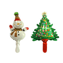Lucky 2pcs/lot Mini Snowman Santa Claus Tree Foil Balloons Merry Christmas Decoration Inflatable Air Balloon Party Supplies Toys(China)