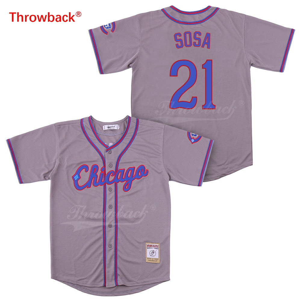 Baseball Jerseys Persevering Throwback Jersey Mens Chicago Sosa Jerseys Baseball Jersey Size S-xxxl Shirt Wholesale Stiched Cheap 2019021819 Team Sports