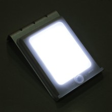 Uniquefire 8Pcs/Lot 16 LED Solar Power PIR Motion Sensor 320LM Super Bright Graden Home Wall lampe Security Saving Light