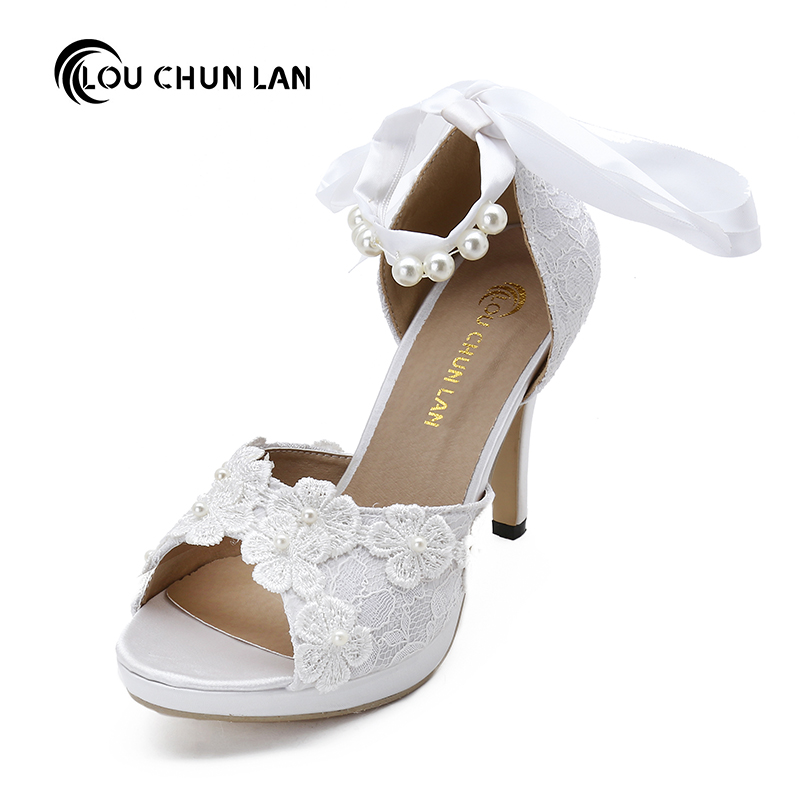 LOUCHUNLAN Women Pumps Shoes Lace Peep Toe Wedding Shoes Ankle strap Bride high-heeled shoes Elegant shoes 602 Drop Shipping dr nana adu pipim boaduo conceptual educational theories