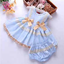 infant girl princess dress baby vintage dresses lace spanish clothing bow fashion kids clothes frock birthday children