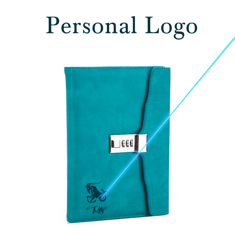 Paperboat Logo Customize Retro A5 Notebook With Lock Free Name Custom Writing Pads Lockable Password Diary Student Gift