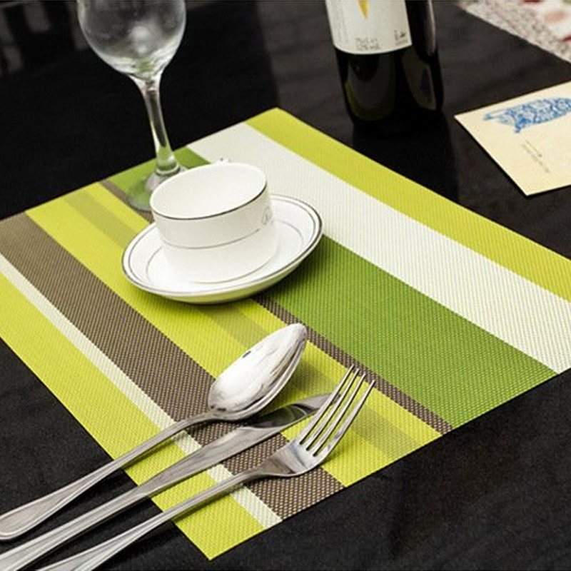 4pcs Kitchen Table Mat 30*45cm Drawer Liner Wardrobe PVC Pad Cupboard Placemat Moistureproof Color Stripes Drop ship