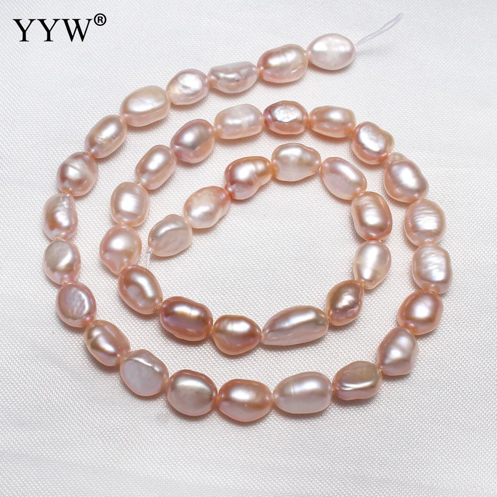 0e36bad0252b YYW cultivadas de agua dulce perlas púrpura Natural 6-7mm aprox 0 ...