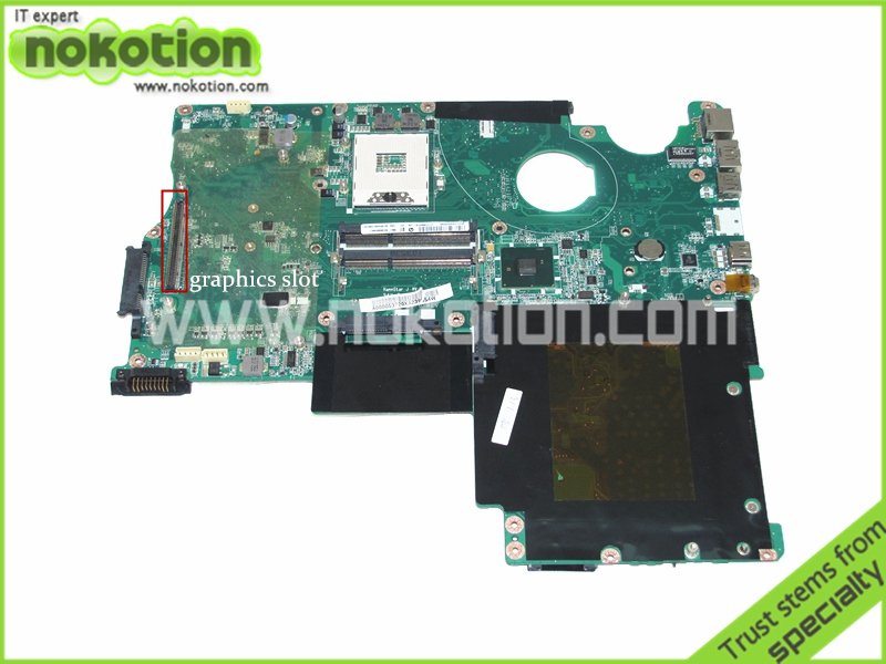 NOKOTION A000053720 for Toshiba Qosmio P505 X505 laptop motherboard PM55 DDR3 with graphics slot new laptop us keyboard with frame for toshiba satellite p750 p750d p755 p755d p770 p770d p775 p775d qosmio x770 x775