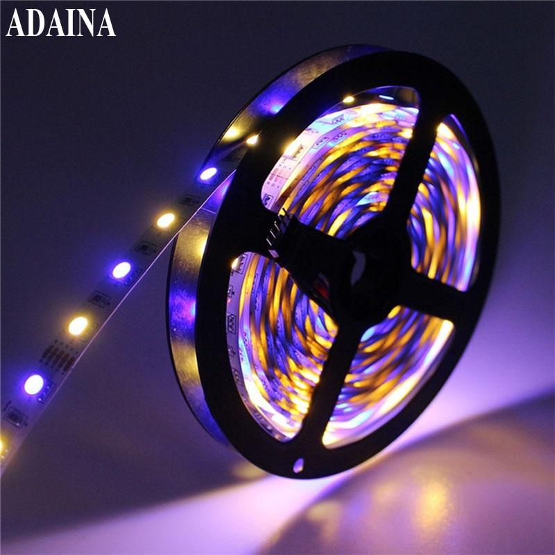 SMD5050 60Chips/M 5M/Lot Led Strip Light IP 65 DC 12V Diode Tape RGB Led Light For Outdoor Home Decor Ledstrip auxmart triple row led chips 12 led