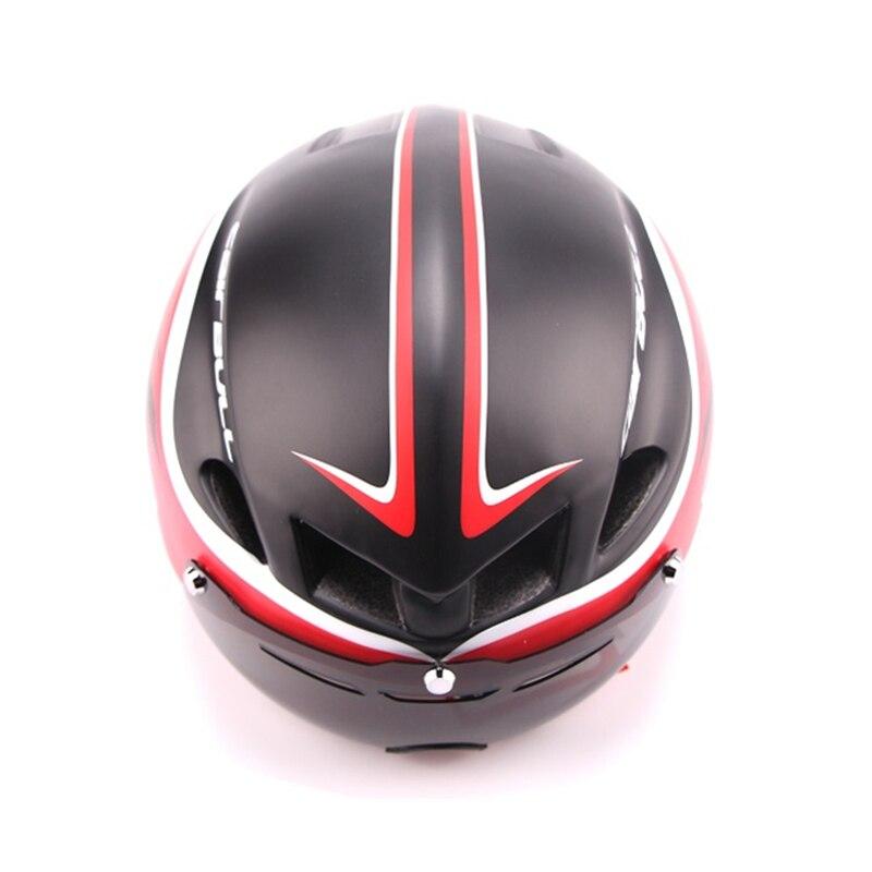 3 lentilles Aero 290g TT lunettes casque de vélo route vélo sport sécurité casque équitation hommes course dans le moule contre la montre cyclisme casques - 4