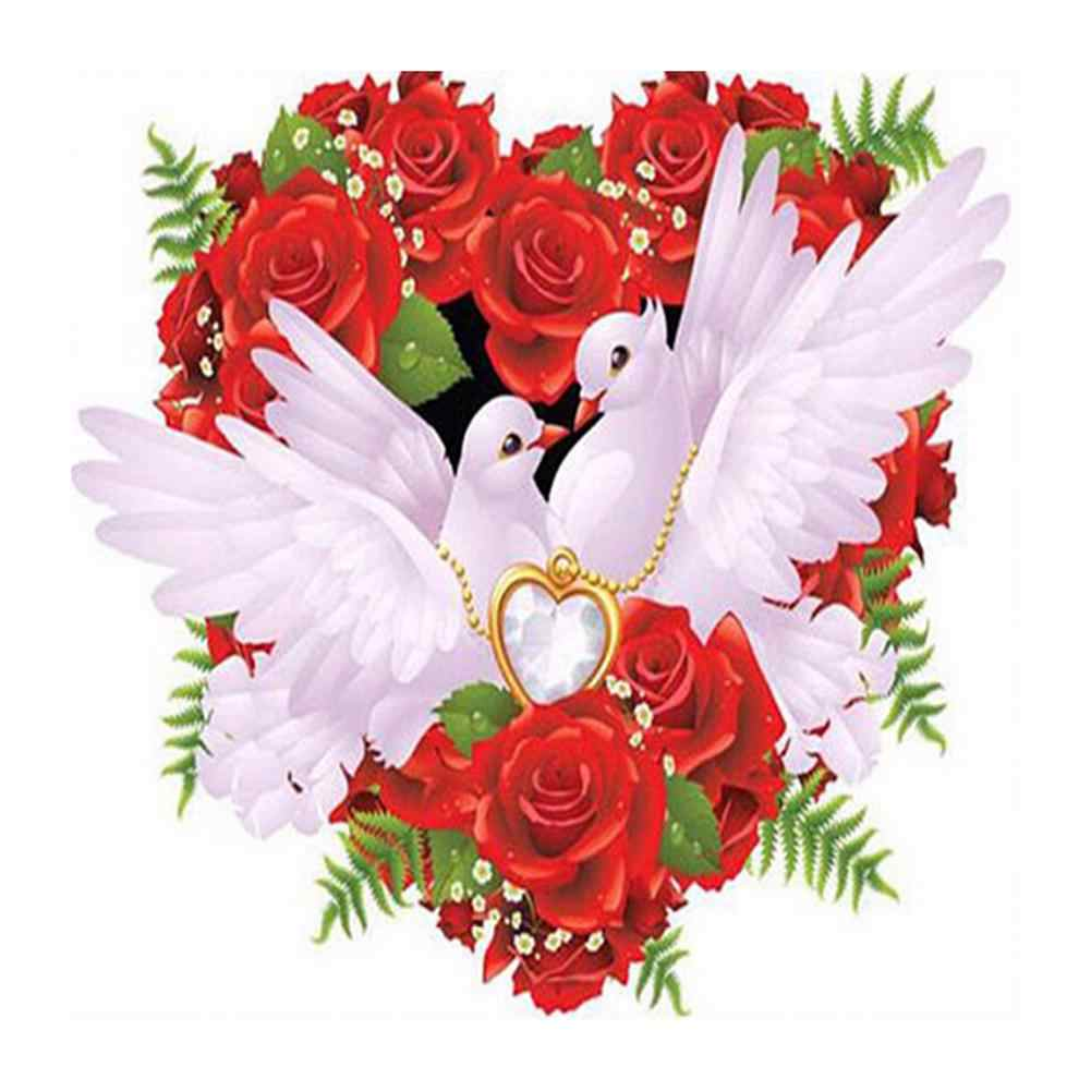 DIY смолы алмазов картина голубь птица роза вышивки крестом полный дрель Настенный декор