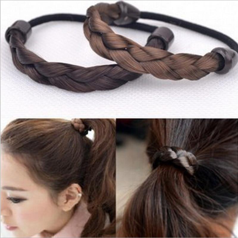 Новая мода настроить уникальный Головные уборы Мода Hairbands цветной глазурью Красота приятный поворот кос красочные коричневый