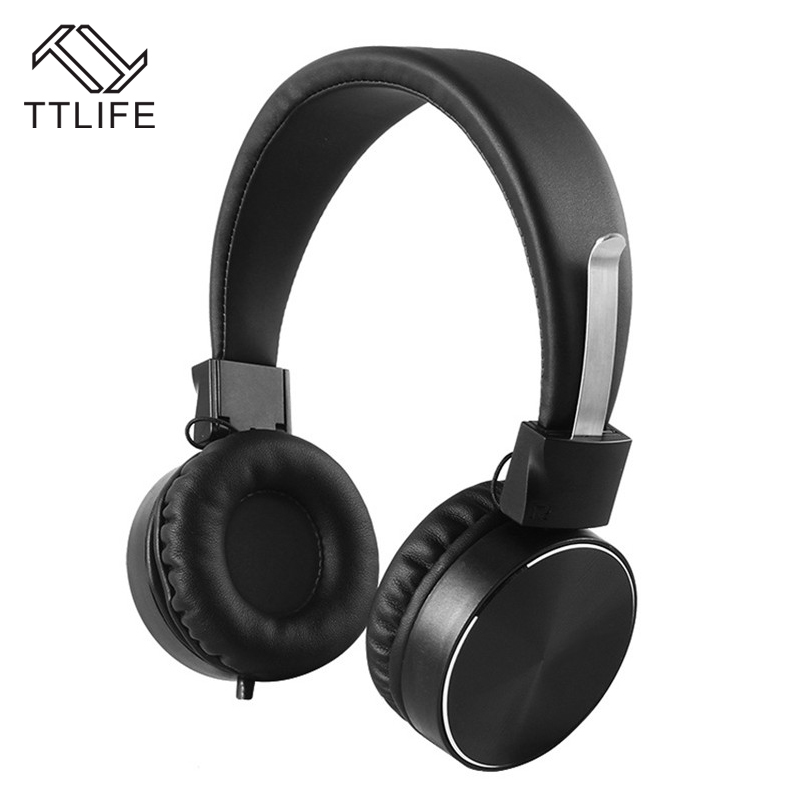 TTLIFE Brand Foldable Wired Headphone Headphones Mp3 Strong Bass Gaming Earphones for Phone Computer PC auriculares con cable sound intone ms200 headphones headsets for phone computer mp3 bass high quality earphones foldable brand wired pc headphone