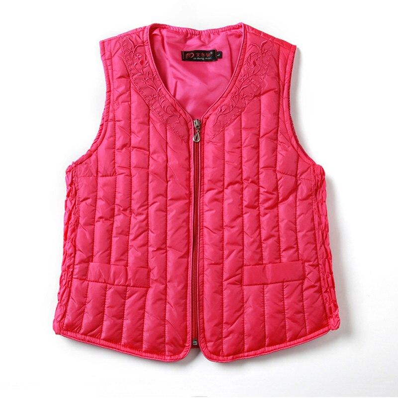 2018 Autumn Winter Women Down Cotton Vest Coat Tops Warm Thick Parka Vests Jacket Ladies Sleeveless Waistcoat Plus Size 3XL A989