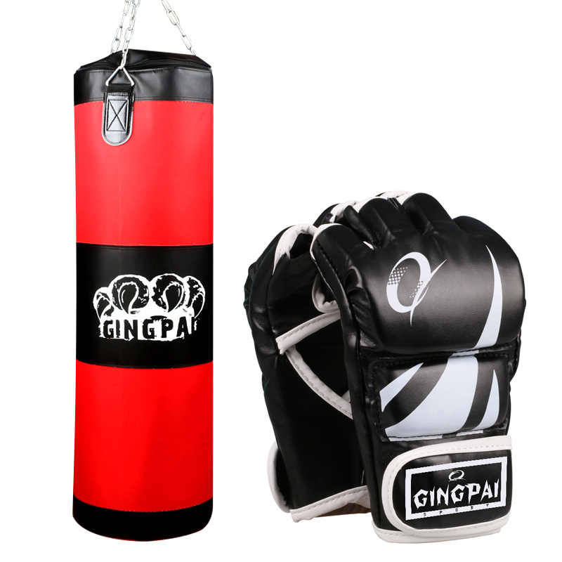 Aliexpress 100cm Boxing Sandbag Kickboxing Mma Punching Bag Gloves Muay Thai Grling Training Hanging Sand Punch Empty From