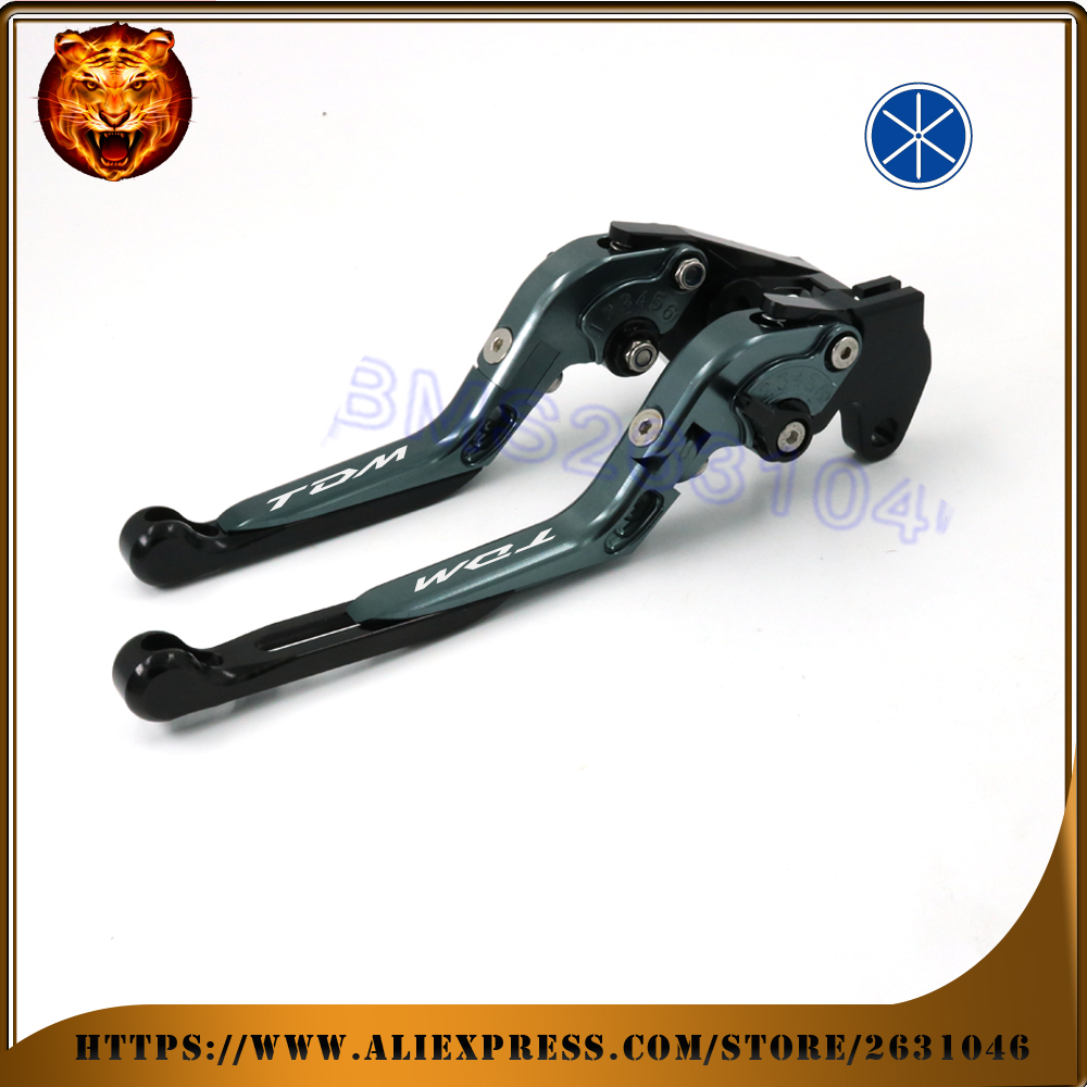 Motorcycle Adjustable Folding Extendable Brake Clutch Lever For <font><b>YAMAHA</b></font> <font><b>TDM</b></font> <font><b>900</b></font> TDM900 2002 <font><b>2003</b></font> 2004 BLUE BLACK RED image
