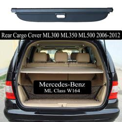 Stop Aluminium + tkanina tylna pokrywa bezpieczeństwa bagażnika pokrywa bagażnika dla mercedes-benz ML klasa ML320 ML350 2006 2007 2008 2009-2012