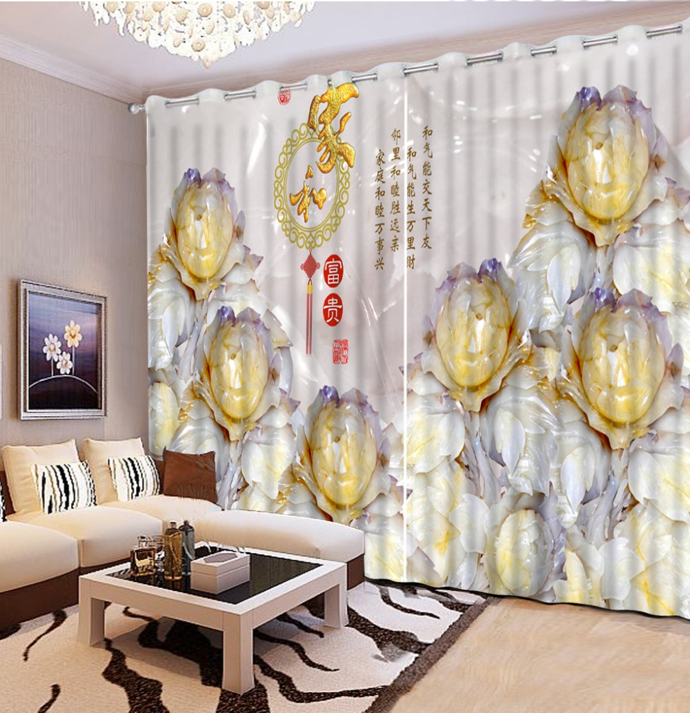 2019 Chinese curtain toddler bedroom window sunshade curtain Living room bedroom customize 3d curtain2019 Chinese curtain toddler bedroom window sunshade curtain Living room bedroom customize 3d curtain
