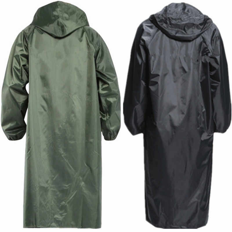 men long army green rain coat high quality waterproof adult poncho single raincoat for hiking at outdoor YY090
