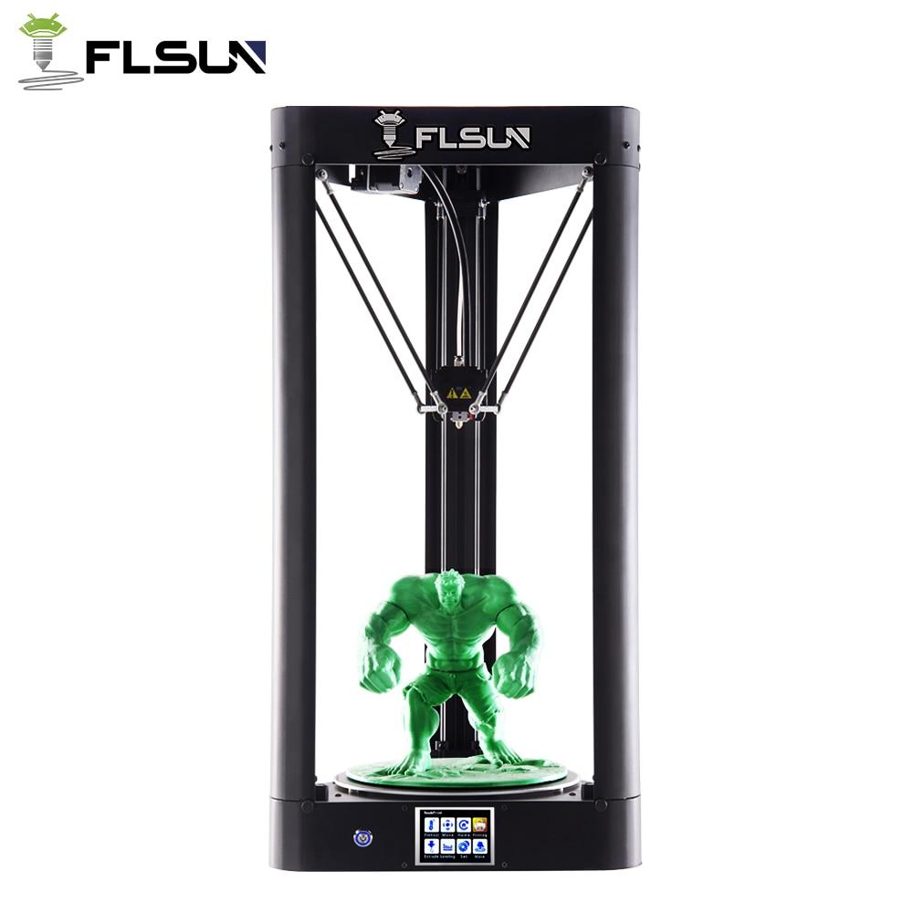 Flsun-qq imprimante 3d cadre métallique grande taille pré-assemblage Auto-niveau Flsun imprimante haute vitesse treillis verre lit écran tactile Wifi