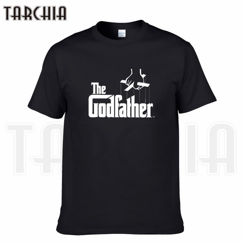 TARCHIA 2019 new brand the godfather t-shirt cotton tops tees men short sleeve boy casual homme tshirt t shirt plus fashion