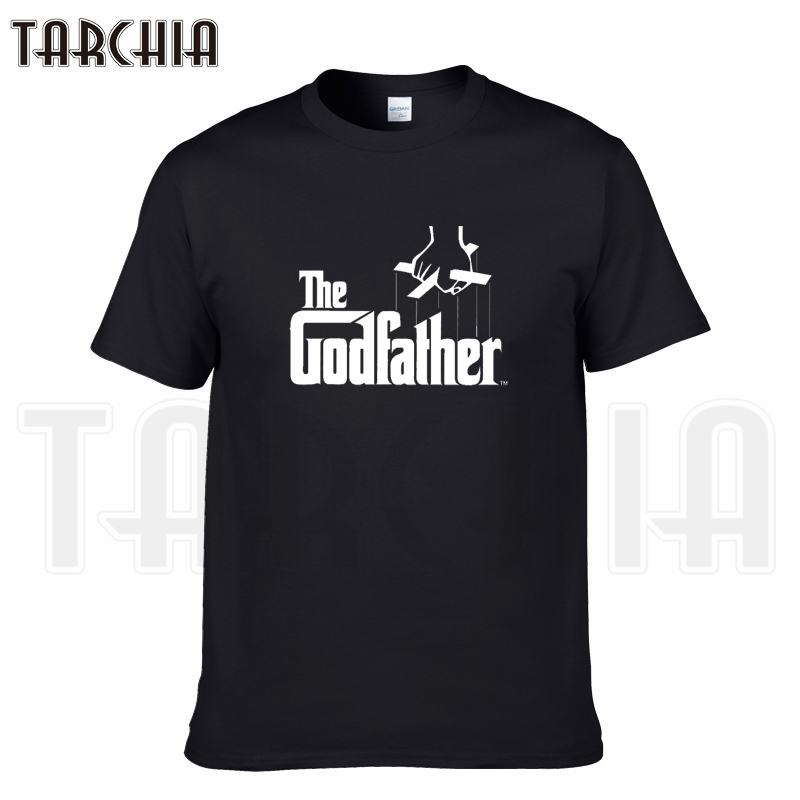 TARCHIA 2019 nouvelle marque le parrain t-shirt couverture en coton t-shirts hommes manches courtes garçon décontracté homme t-shirt plus la mode