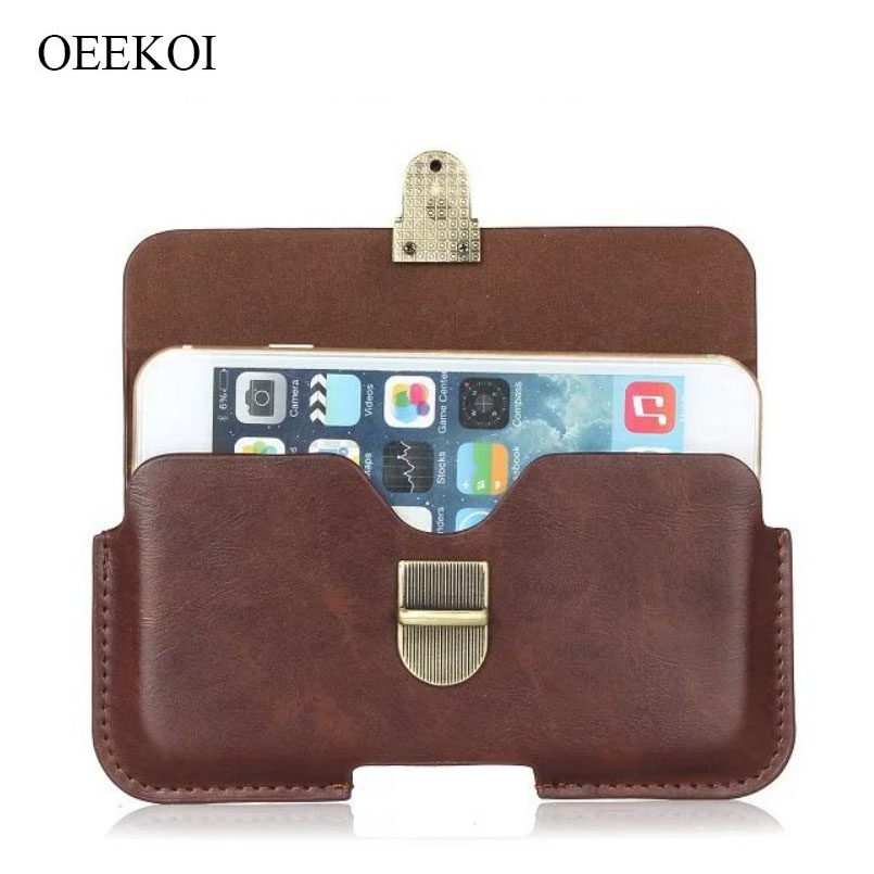 OEEKOI PU Leather Belt Clip Pouch Cover Case for <font><b>bq</b></font> <font><b>6010G</b></font> Practic/5519L Fast Plus/Aquaris X2 Pro/X2/VS Plus/V Plus/M5.5 image