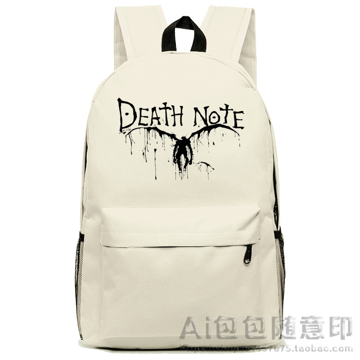 Anime Death Note Cosplay Anime backpack male and female student bag travel backpack anime death note male black short curly cosplay wig show