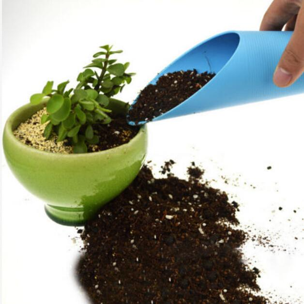 Gardening Shovel Rake Bucket Shovel Potted Cultivation Cylinder Plastic Mini Fleshy Soil Spade Shovel Plant Garden Tool
