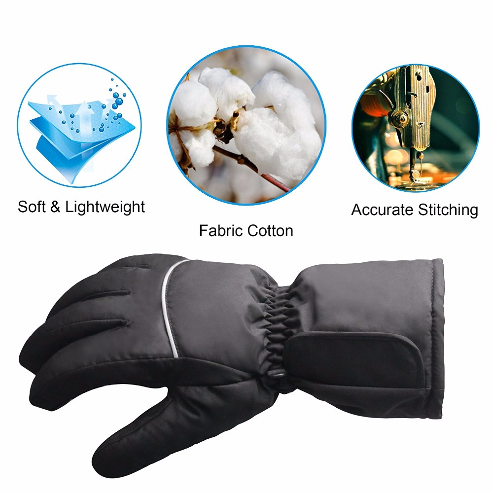 Touch Screen Texting Rechargeable Electric Batteries Heated Gloves for Men Women