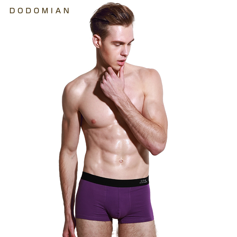 Male Underwear Boxers DODOMIAN Shorts Sexy Men Plus-Size Cotton Brand Lot 4pcs Young
