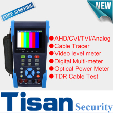 New AHD CVI TVI Analog CCTV tester Monitor with Cable Tracer ,Multi-meter ,TDR Cable ,Optical Power Meter, Support 3.0TVI Test