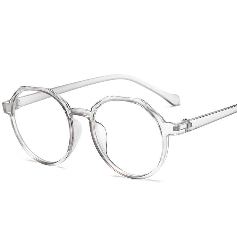 94a1c0dc279 Fashion Glasses High Quality TR Frame Women Eyeglasses frame Vintage Round  Clear Lens Glasses