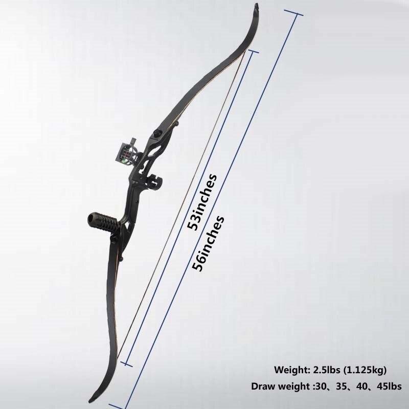 Livraison gratuite 30 lbs 35 lbs 40 lbs 45 lbs extérieur chasse tir à l'arc long tir à l'arc long arc classique arc de chasse