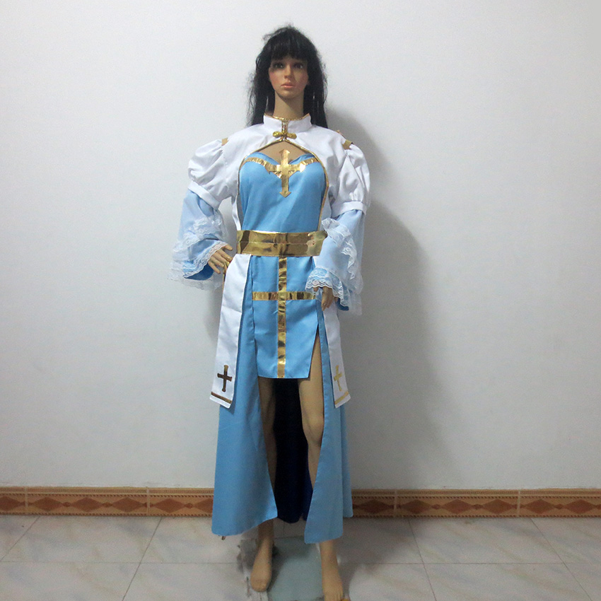 Game RO Ragnarok Online Archbishop Christmas Party Halloween Uniform Outfit Cosplay Costume Customize Any Size