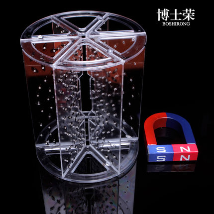 stereoscopic magnetic induction line demonstrator permanent magnet, electromagnetic field experimental ,Excluding magnet