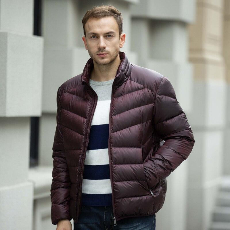 Chaqueta de invierno de hombre de marca Tace & Shark chaqueta de plumón de pato blanco chaqueta de plumón ultra ligera para hombre talla grande 4XL