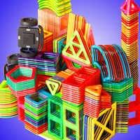 54pcs/set Big Size Magnetic Blocks Triangle Square Bricks Magnetic Designer Construction Toys For Kids Gift